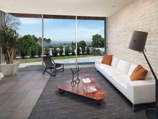 vidros para casa: sala de estar com vidro