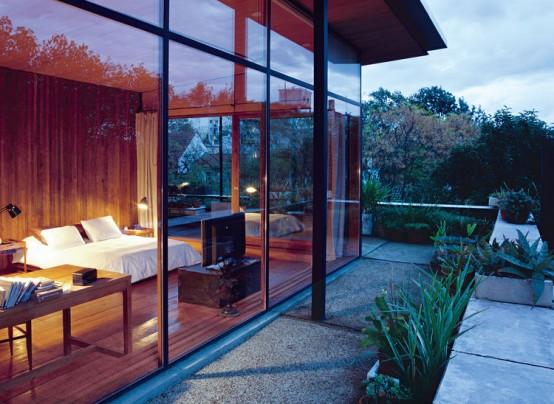 vidros para casa: quarto com janela de vidro